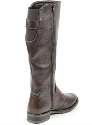 Knee Length Boots Dark Brown - The Grinning Goat