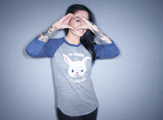 I'm Vegan and I Love You Unisex Bunny Baseball Tee - The Grinning Goat