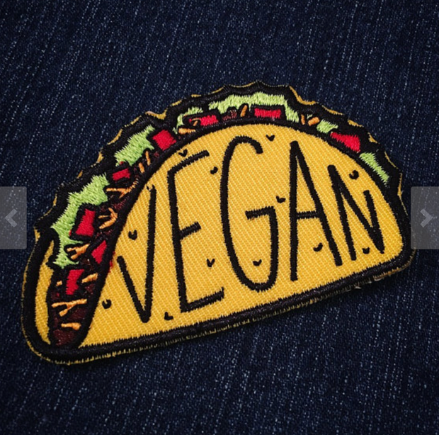 Vegan Taco Iron on Patch - The Grinning Goat