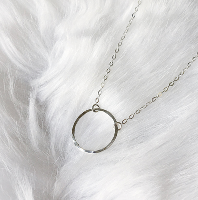 Circle Choker in Silver - The Grinning Goat