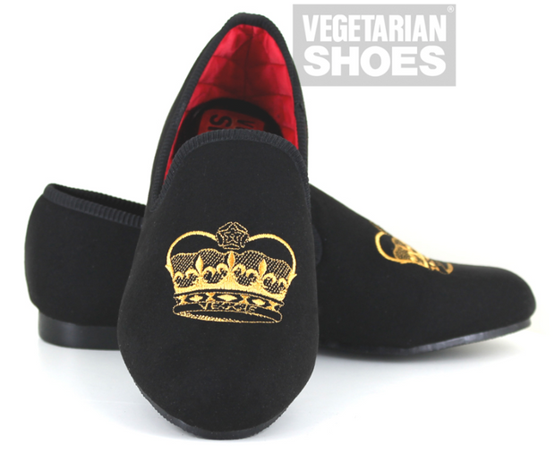 Crown Slipper (Black) - The Grinning Goat