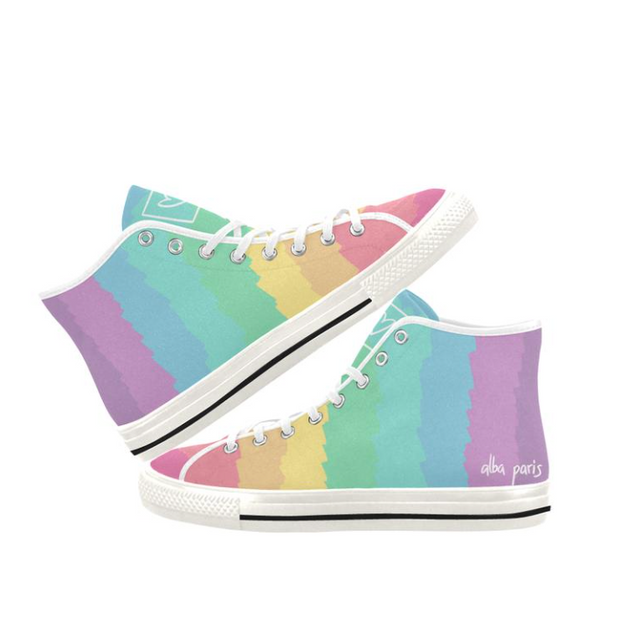 Women's Pastel Rainbow Hightops - The Grinning Goat