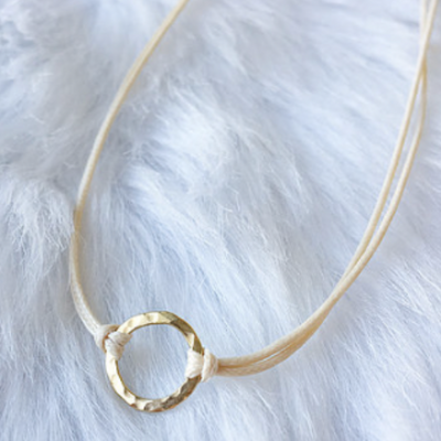 Mini Circle Cord Choker Gold - The Grinning Goat
