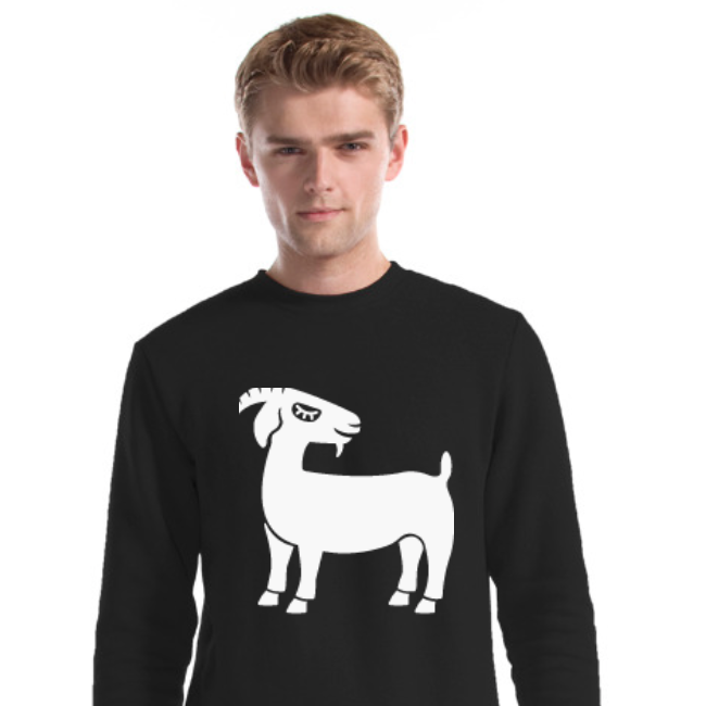 Grinning Goat Bamboo & Organic Cotton Unisex Sweater - Black - The Grinning Goat