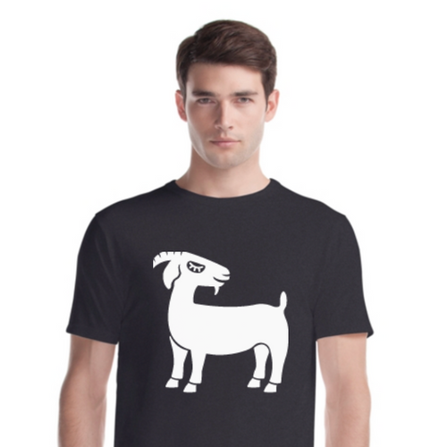 Grinning Goat Unisex Bamboo & Organic Cotton Tee