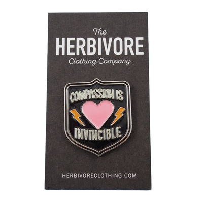 Compassion is Invincible Enamel Pin - The Grinning Goat