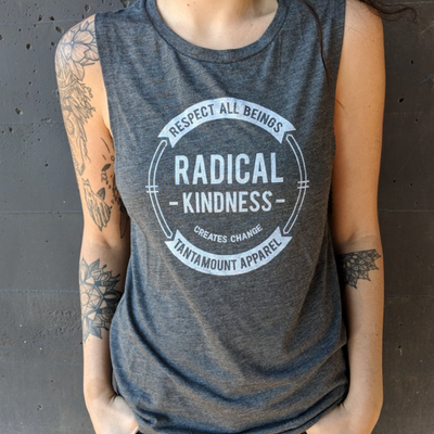 Radical Kindness Tank - Grey - The Grinning Goat