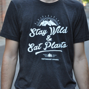 Unisex Stay Wild Triblend Tee - Charcoal Grey - The Grinning Goat