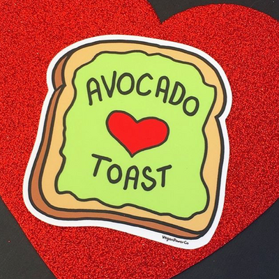 Avocado Toast Sticker - The Grinning Goat
