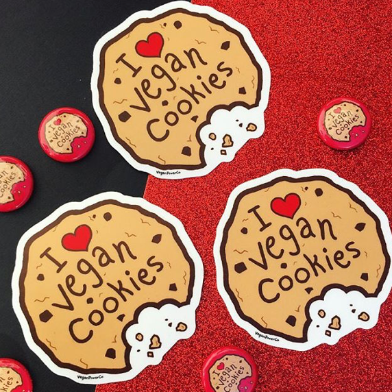 Vegan Cookie Sticker - The Grinning Goat