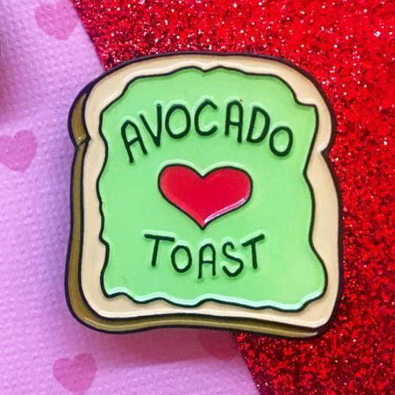 Avocado Toast Soft Enamel Pin - The Grinning Goat