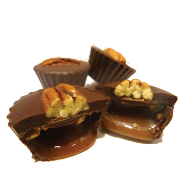 4pc Pecan Caramel Cups - The Grinning Goat
