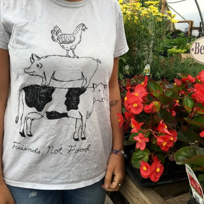 Friends not Food Women's Tee - The Grinning Goat