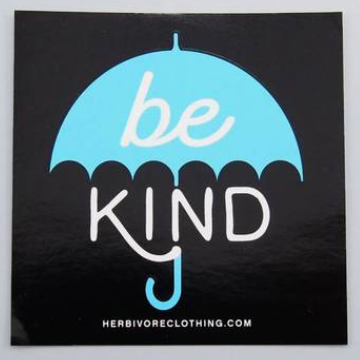 Be Kind Blue Umbrella Sticker - The Grinning Goat