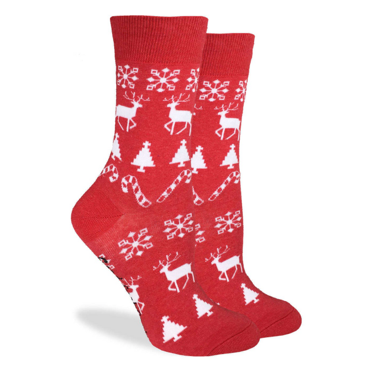 Holiday Crew Socks - Women's - The Grinning Goat