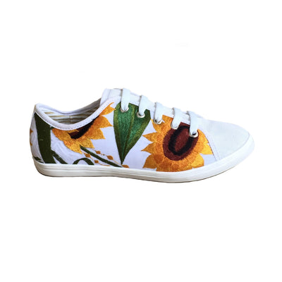White Sunflower Sneakers