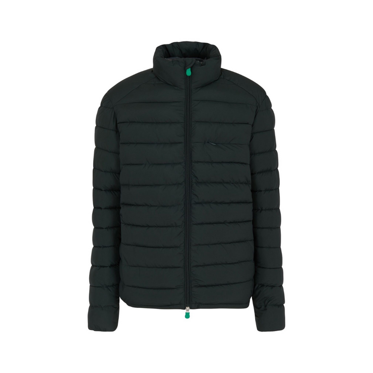 Men's Quilted Jacket - Green Black (RECY)