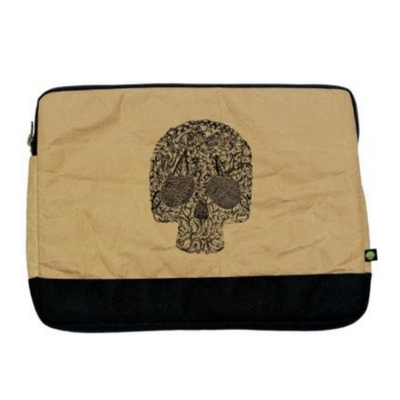 "13"" Laptop Sleeve Bi-Color - Black Skull - The Grinning Goat"