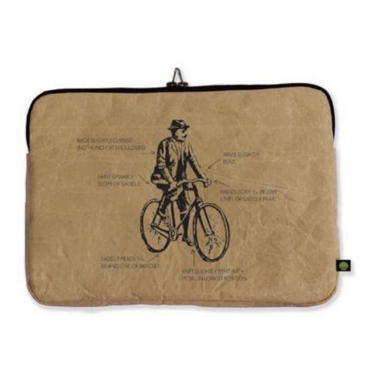 "13"" Laptop Sleeve - Bicycle - The Grinning Goat"