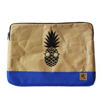 "13"" Laptop Sleeve Bi-Color - Blue Pineapple - The Grinning Goat"