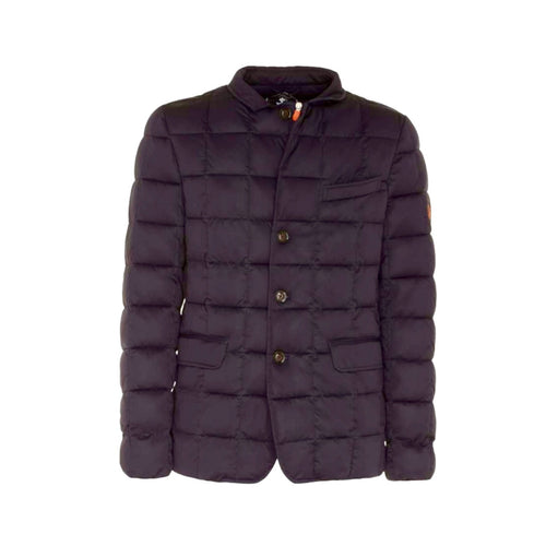 Men's Stretch Quilted Jacket - Blue Black - The Grinning Goat