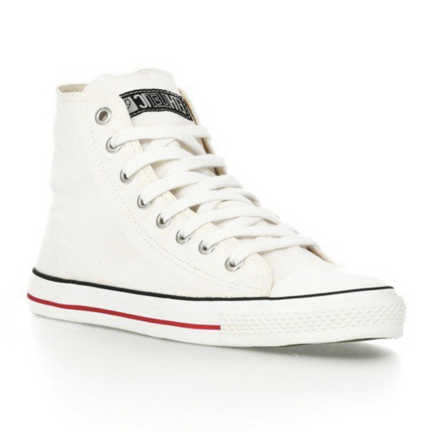 Fair Trainer White Cap Hi Cut - Just White - The Grinning Goat