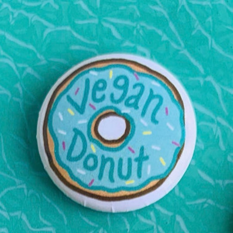 Blue Donut Button
