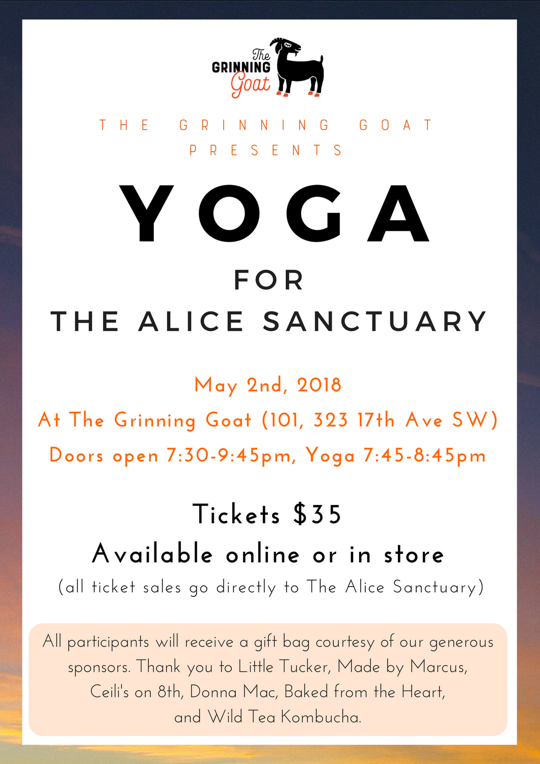 Yoga for The Alice Sanctuary