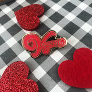 Vegan Heart Pin