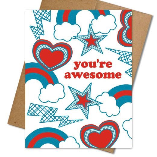 You're Awesome Card - The Grinning Goat