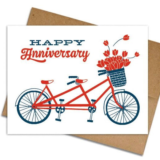 Bicycle Anniversary Card - The Grinning Goat