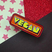 Pac Vegan Soft Enamel Pin - Orange