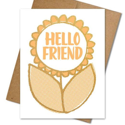 Hello Friend Card - The Grinning Goat
