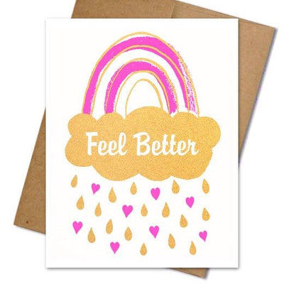 Feel Better Rainbow Card - The Grinning Goat