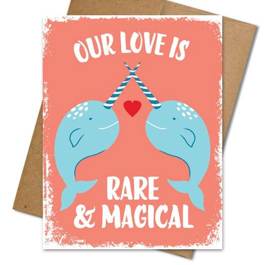 Narwhal Love Card - The Grinning Goat