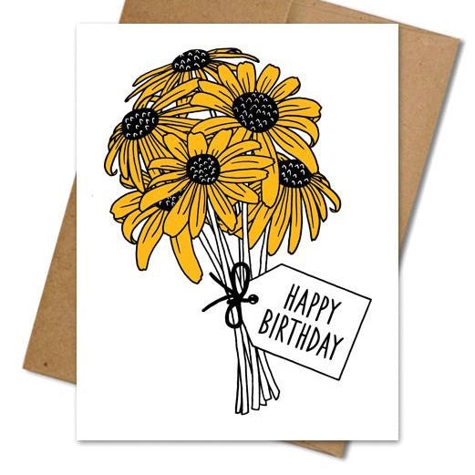 Birthday Bouquet Card - The Grinning Goat