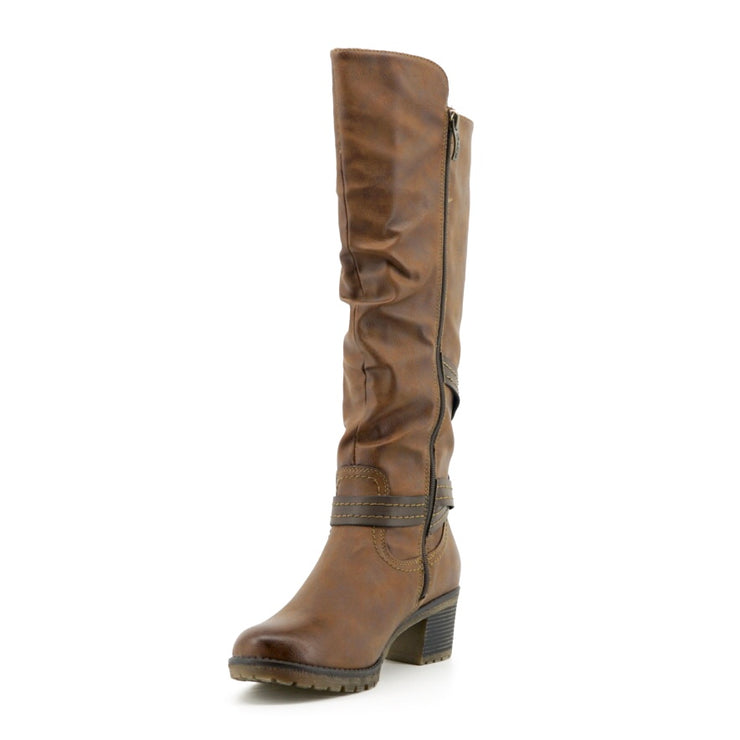 Rebeka Tall Boot - Brown - The Grinning Goat