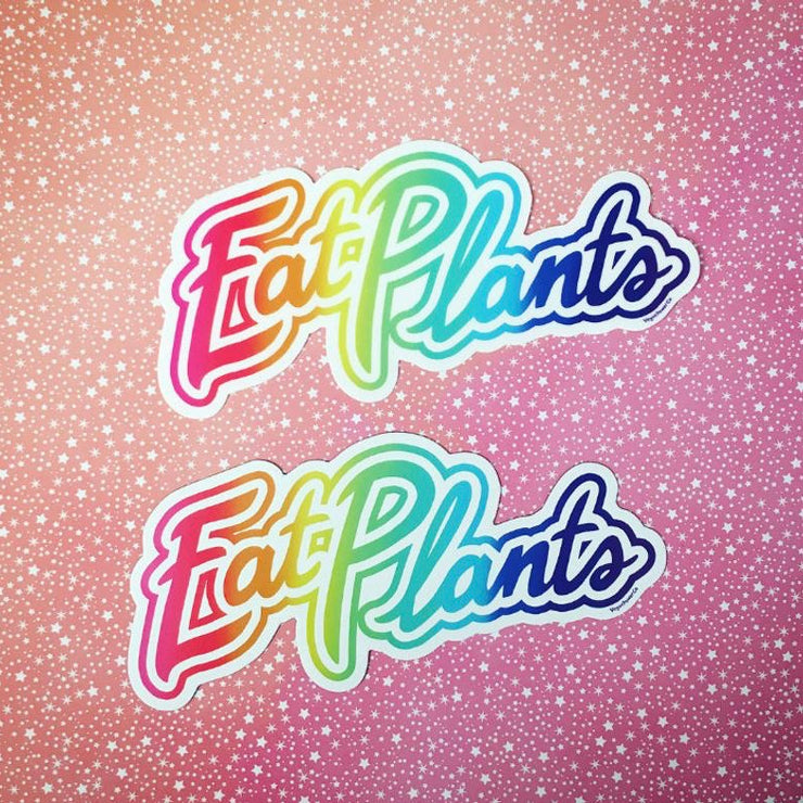 Eat Plants Sticker - The Grinning Goat