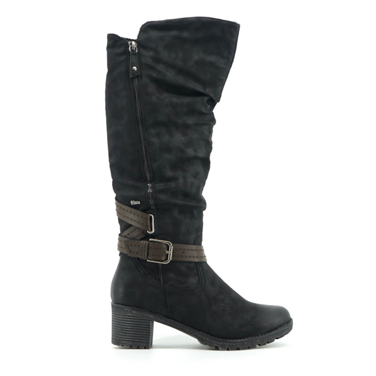 Rebeka Tall Boot - Black - The Grinning Goat