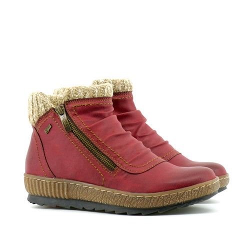 Anna Ankle Boot - Red - The Grinning Goat