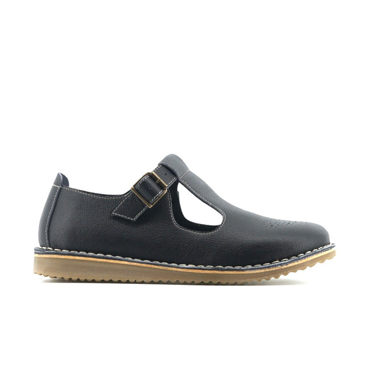 T Brogue (Black) - The Grinning Goat