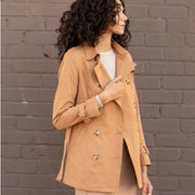 Push My Buttons Coat - Camel - The Grinning Goat