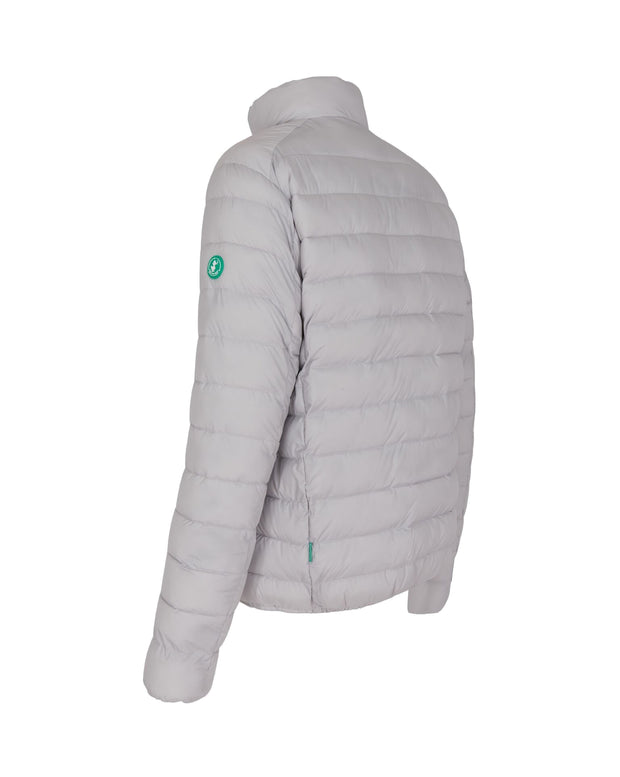 Men's Quilted Jacket - Frozen Grey (RECY) - The Grinning Goat