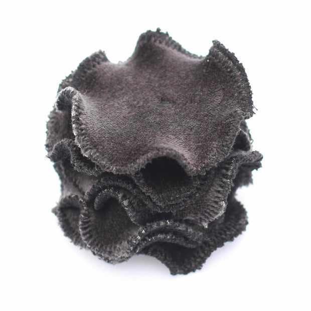 Reusable Organic Bamboo Velour + French Terry Rounds - Black - The Grinning Goat