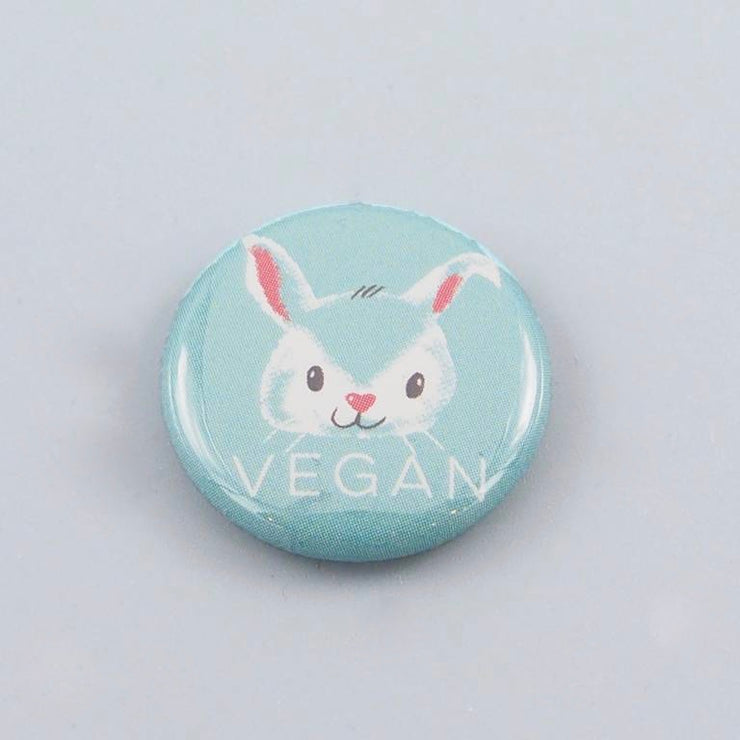 Vegan Bunny Button - The Grinning Goat