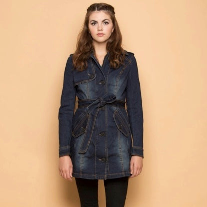 Bow Limits Denim Coat - The Grinning Goat
