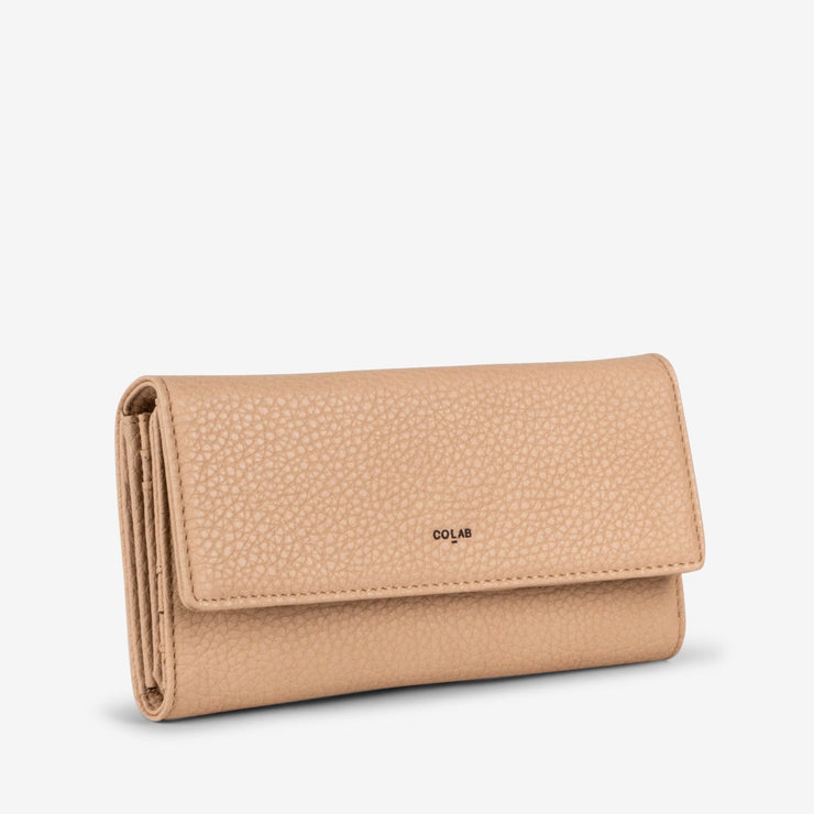 Madison Tri-Fold Card Wallet - Nude