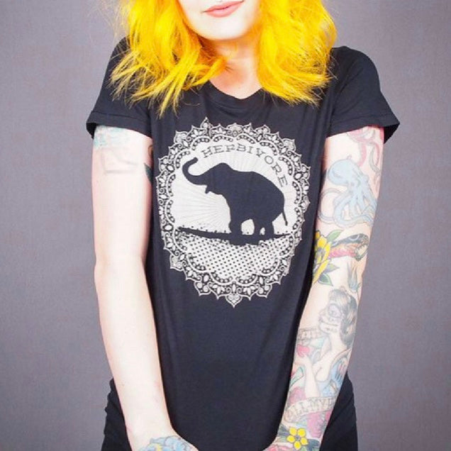 Good Luck Elephant Women's Tee - The Grinning Goat