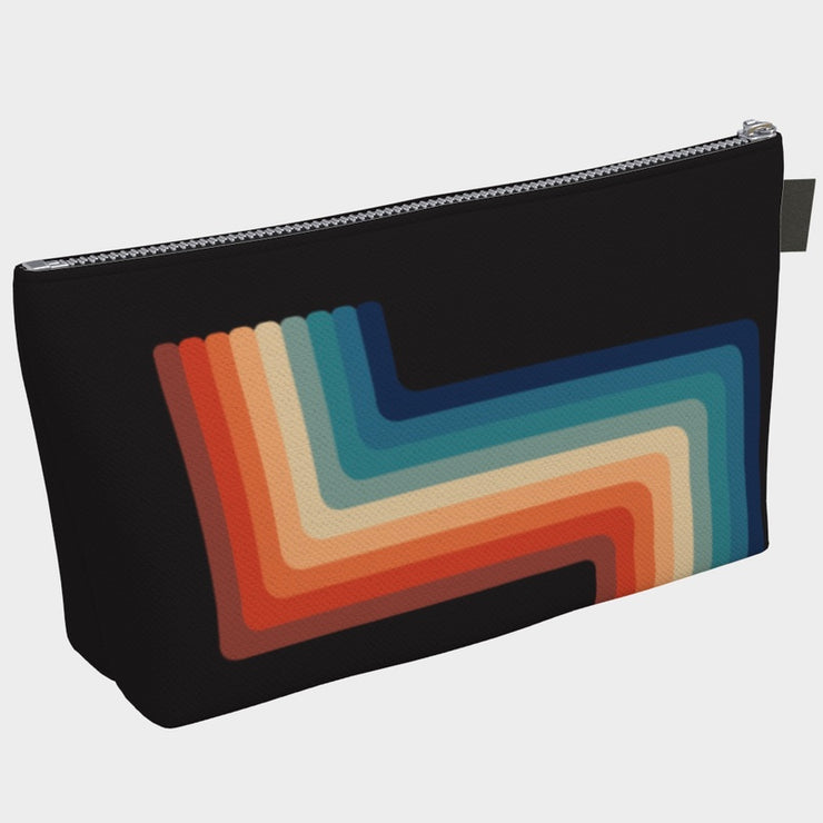Vegan Retro Rainbow Make-up Bag - The Grinning Goat