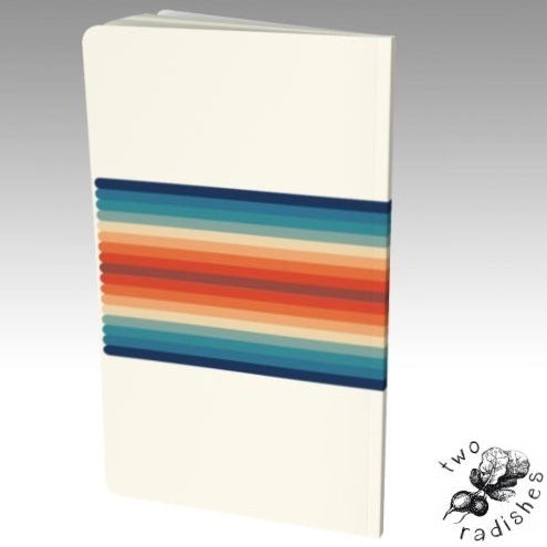 Vegan Retro Rainbow Notebook